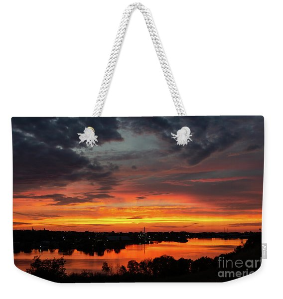 Sunset On Mainstee Lake Weekender Tote Bag