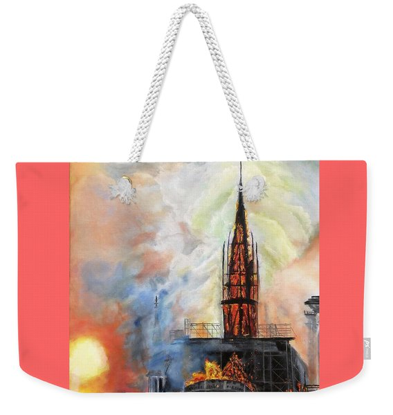 Sunset On Notre Dame Weekender Tote Bag
