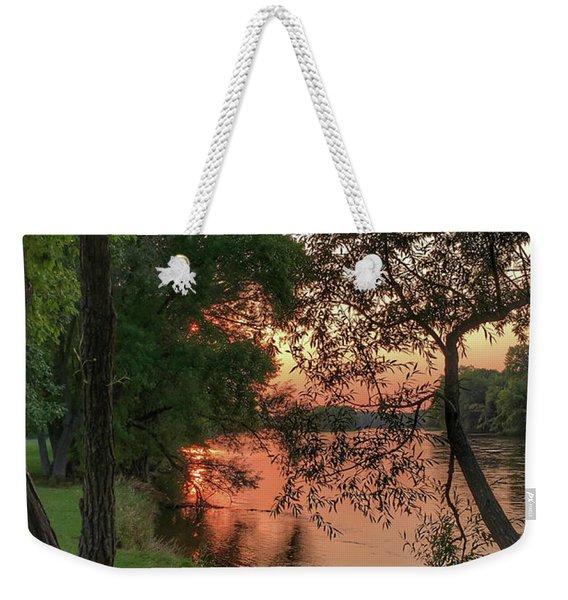 Sunset On The Mississippi Weekender Tote Bag