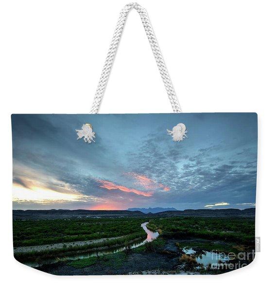 Sunset On The Rio Grande Weekender Tote Bag