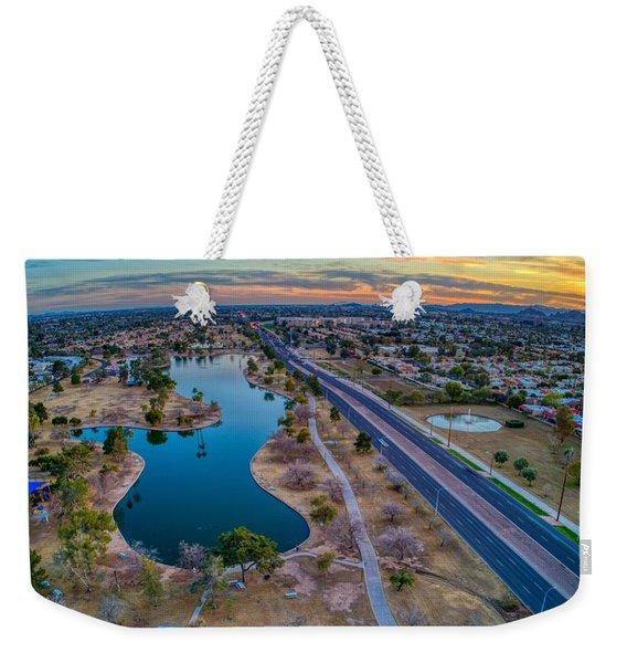 Sunset Over Chaparral  Weekender Tote Bag
