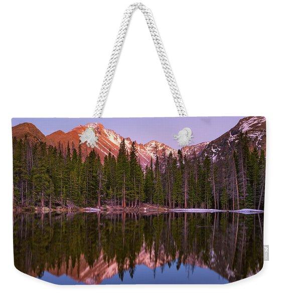 Sunset Over Longs Peak Weekender Tote Bag