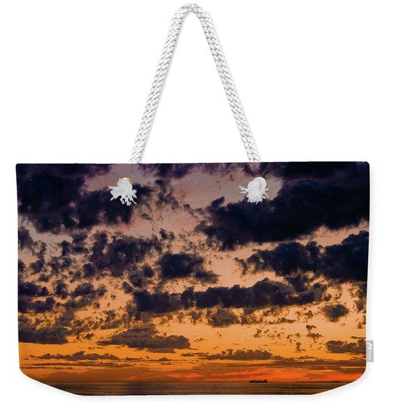 Sunset Over The Indian Ocean Weekender Tote Bag