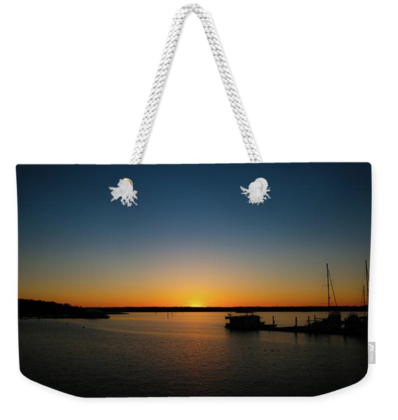 Sunset Over The Potomac Weekender Tote Bag