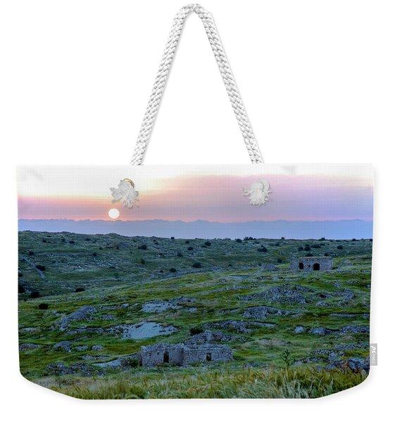 Sunset Over Um A-shekef, Israel Weekender Tote Bag