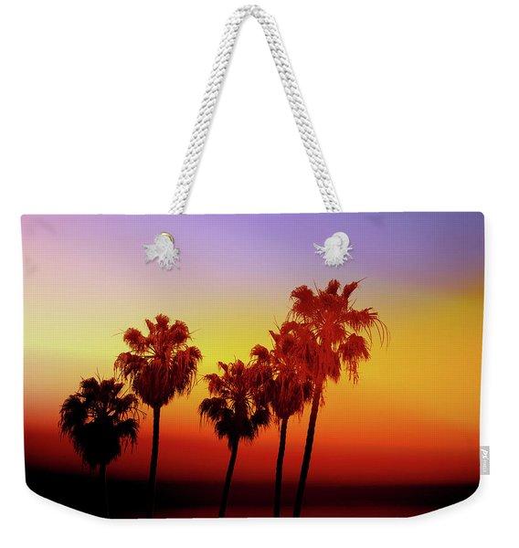 Sunset Palm Trees- Art By Linda Woods Weekender Tote Bag