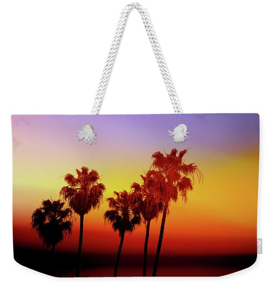 Sunset Palm Trees- Art By Linda Woods Weekender Tote Bag