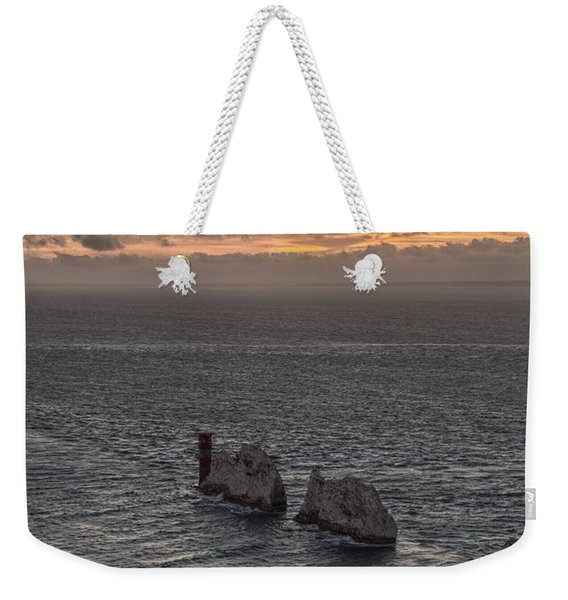 Weekender Tote Bag featuring the photograph Sunset Past The Needles by Clayton Bastiani