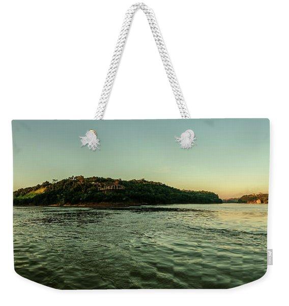 Sunset River Confluence Weekender Tote Bag