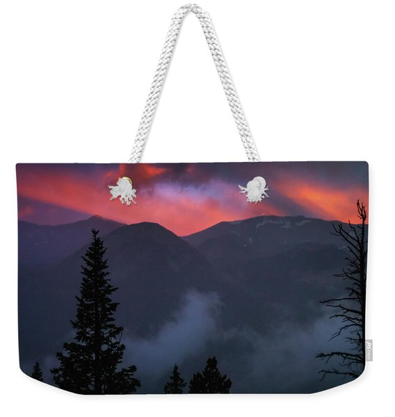 Sunset Storms Over The Rockies Weekender Tote Bag
