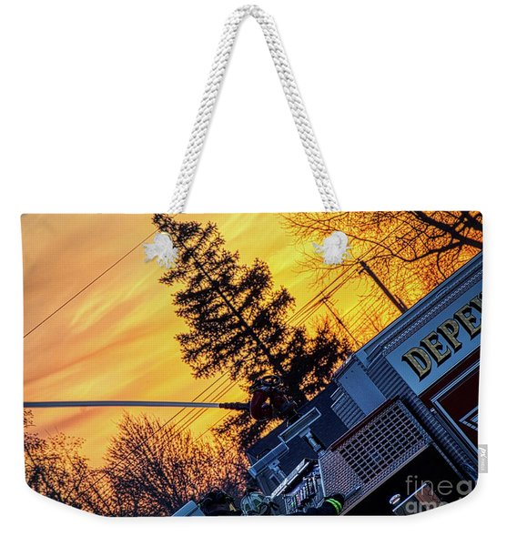 Sunset Streams Weekender Tote Bag