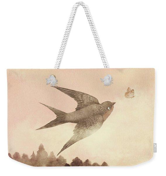 Sunset Swallow Weekender Tote Bag