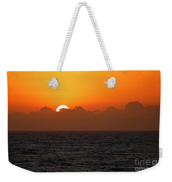 Sunset Through The Clouds Weekender Tote Bag