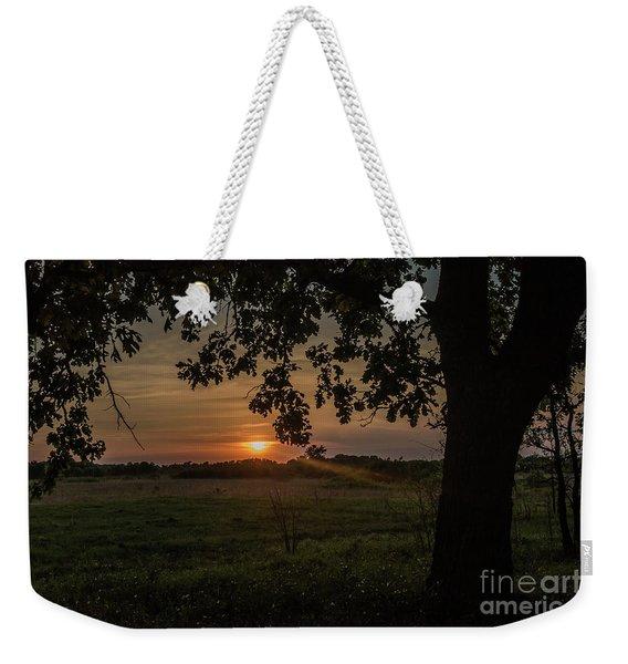 Sunset Under The Tree Weekender Tote Bag