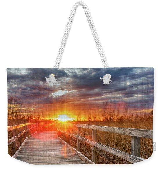 Sunset Walk Weekender Tote Bag