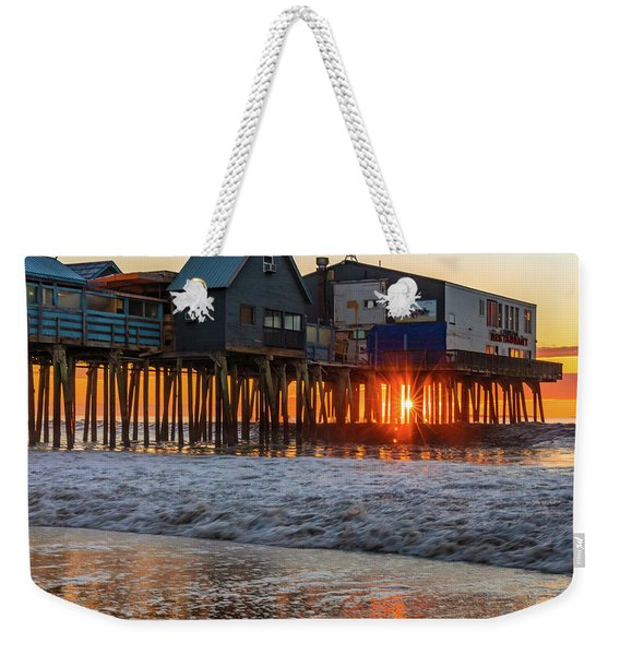 Sunstar At Pier Patio Old Orchard Beach Weekender Tote Bag