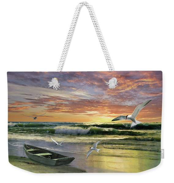 Surf At Sunrise Weekender Tote Bag
