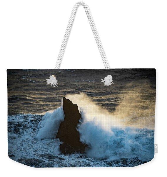 Surf At Sunset Weekender Tote Bag