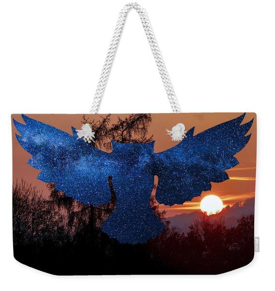 Sunset Owl Weekender Tote Bag