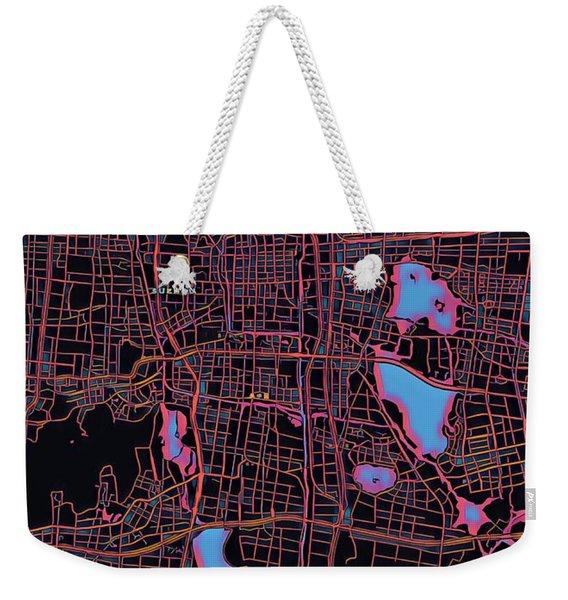 Suzhou City Map Weekender Tote Bag