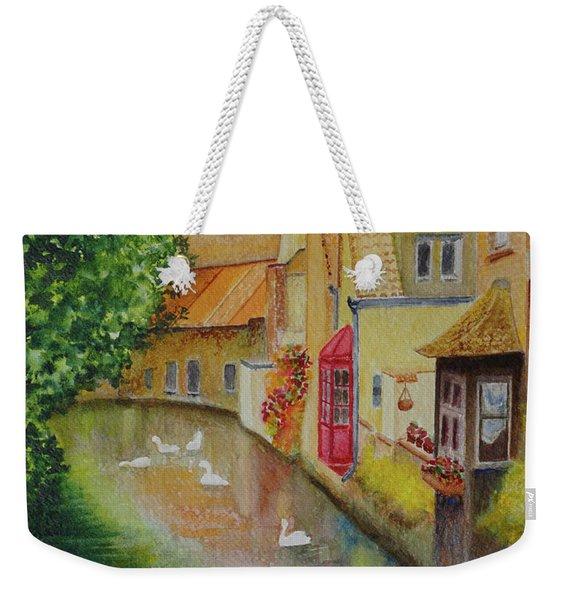 Swan Canal Weekender Tote Bag
