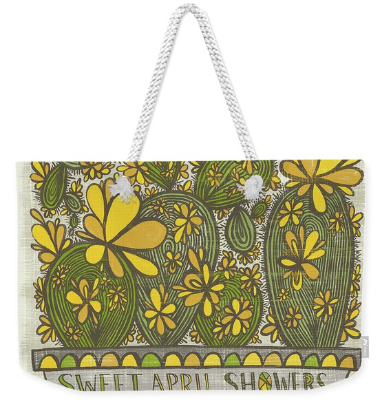 Sweet April Showers Do Bring May Flowers Thomas Tusser Quote Weekender Tote Bag