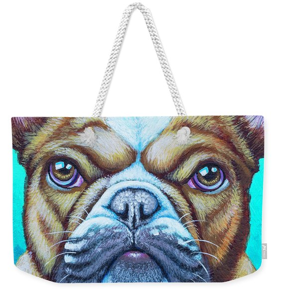Sweet Heart Bulldog Weekender Tote Bag