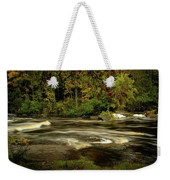 Swirling River Weekender Tote Bag