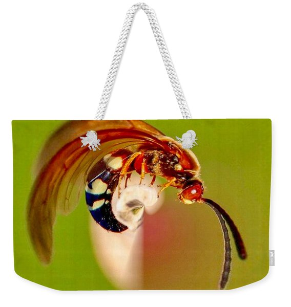 Swirly Wasp Weekender Tote Bag