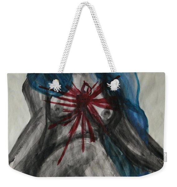 Swollen Heart Weekender Tote Bag