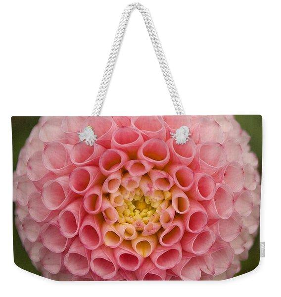 Symmetrical Dahlia Weekender Tote Bag
