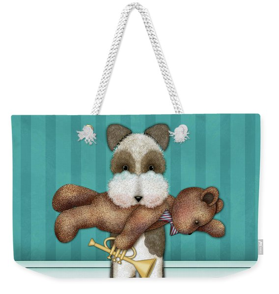 T Is For Terrier And Teddy Weekender Tote Bag
