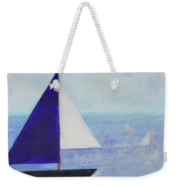 Weekender Tote Bag featuring the painting Tactical by Kim Nelson