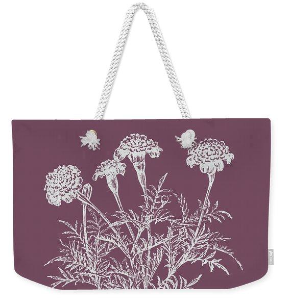 Tagetes Patula Purple Flower Weekender Tote Bag