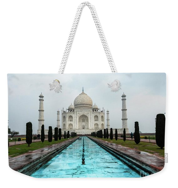 Weekender Tote Bag featuring the photograph Taj Mahal by Robin Zygelman
