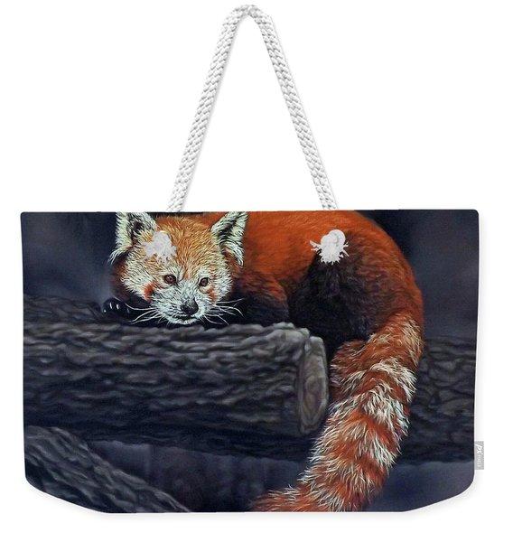 Takeo, The Red Panda Weekender Tote Bag