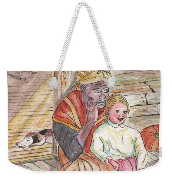 Taking Care Of The Owners Little Daughter Weekender Tote Bag