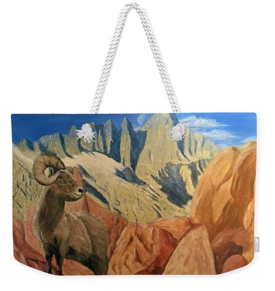Weekender Tote Bag featuring the painting Taking In The Morning by Kevin Daly