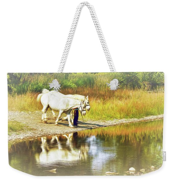 Leading The Horses To Water Weekender Tote Bag