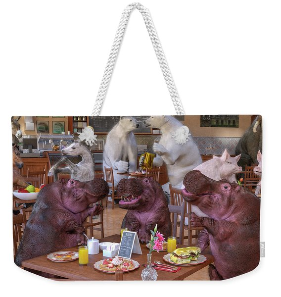 Talk Of The Town Coffee Shop Weekender Tote Bag