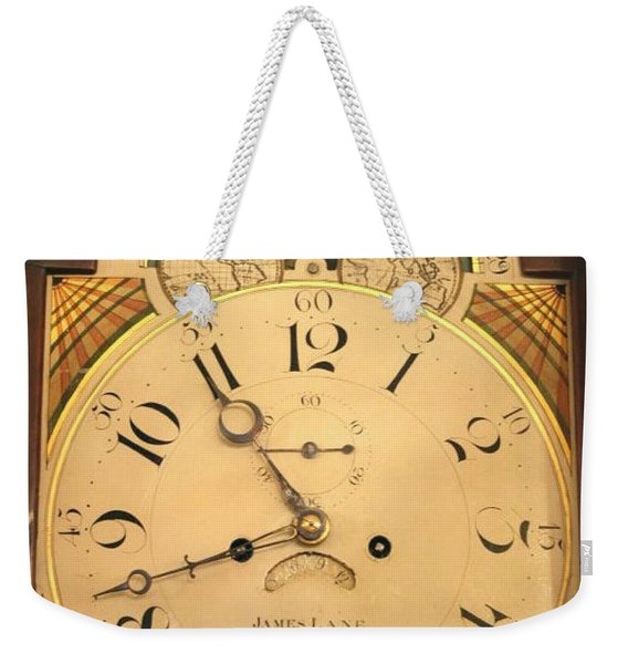 Tall Case Clock Face, Around 1816 Weekender Tote Bag
