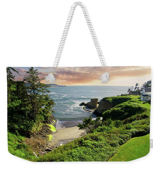 Tall Conifer Above Protected Small Cov Weekender Tote Bag