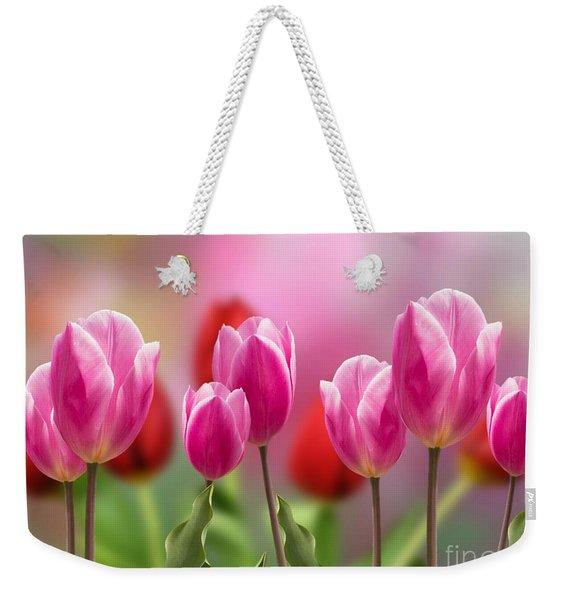 Tall Tulips Weekender Tote Bag