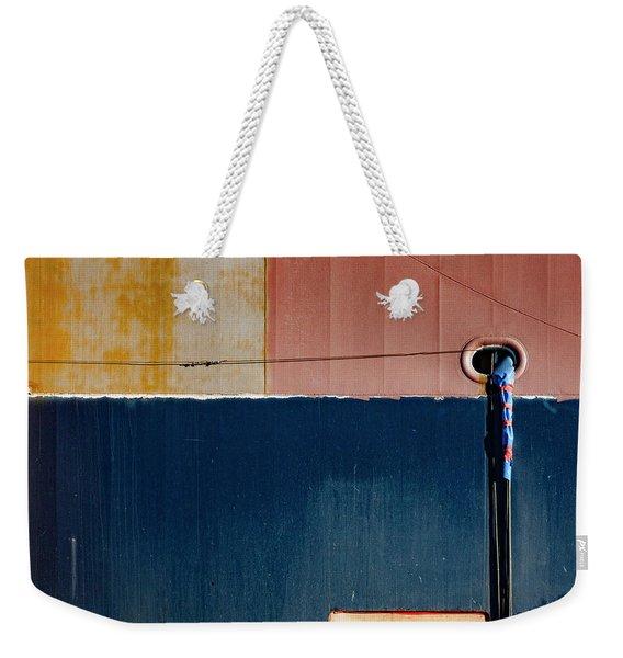 Tanker In Dry Dock Weekender Tote Bag