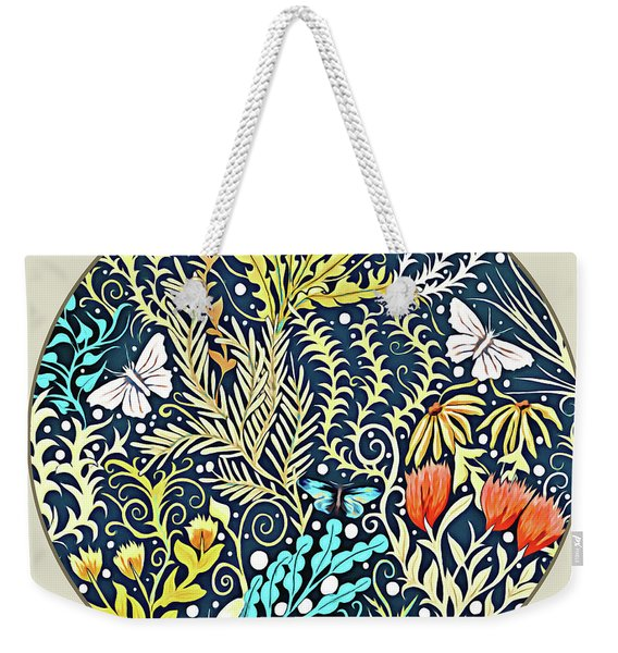 Tapestry Design Button Weekender Tote Bag