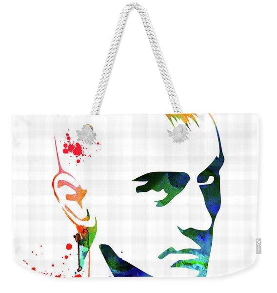 Taxi Driver Watercolor Weekender Tote Bag