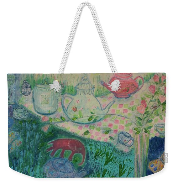 Tea Party Weekender Tote Bag