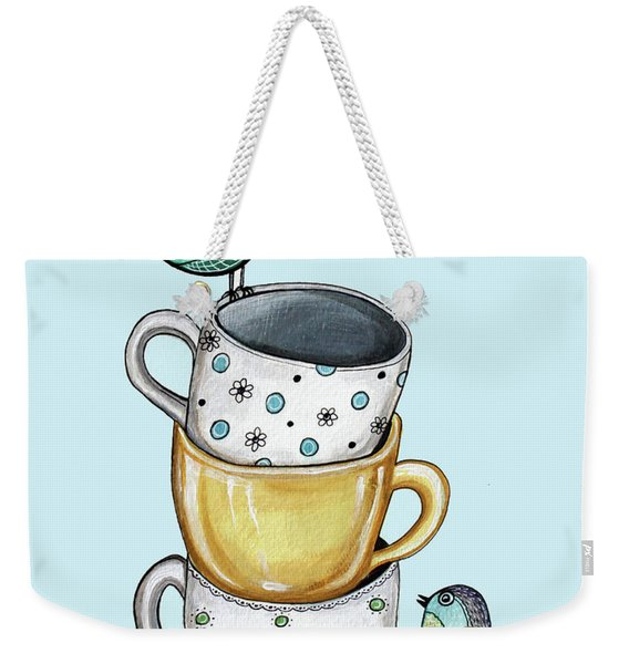 Tea Time With The Birds Weekender Tote Bag