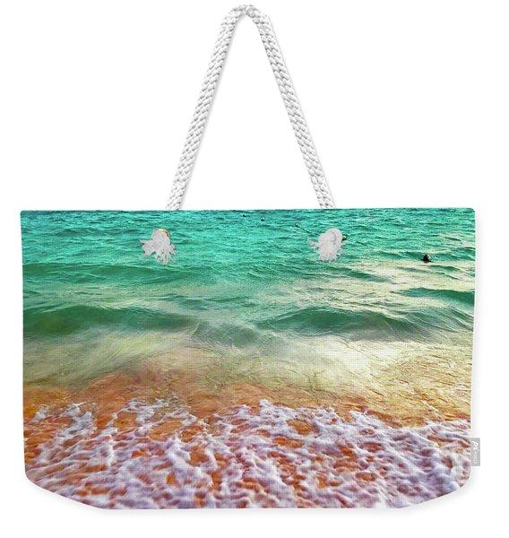 Teal Shore  Weekender Tote Bag