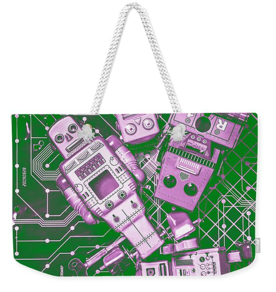 Tech Borg Centre Weekender Tote Bag
